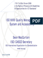 ISO 9000 Quality Management System and Accessibility