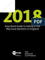 Easy Read Guide to Voting at 2018 Elections