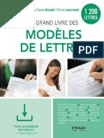 eBook Le Grand Livre Des Modeles de Lettres 1200 Modeles 2017