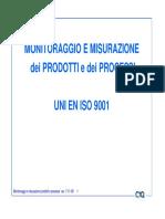 Misurazioni e Monitoraggio Prodotti e Processi 7-11-09 [Modalità Compatibilità]