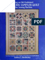 Making an Old-fashioned Patchwork Sampler Quilt on the Sewing Ma