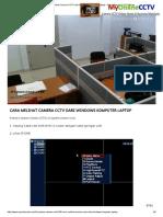Cara Melihat Camera CCTV Dari Windows Komputer Laptop