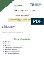 Bernoulli Differential Equations