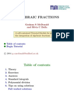 Integration of Algebraic Fractions