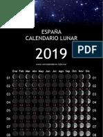 Espana Ano Calendario 2019