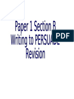 Writing to Persuade Booklet