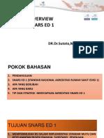 Overview Standar Akreditasi Snars Ed1 72018