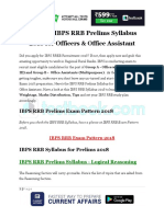 Detailed IBPS RRB Prelims Syllabus 2018 for Officers Office Assistant
