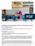 Bridging the Language Divide in Thailand Deep South