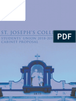 St. Joseph's College 144th Students' Union Cabinet Proposal