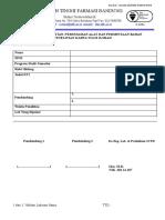 FORM Penelitian, Peminjaman Alat Dan Permintaan Bahan Penelitian TA 2