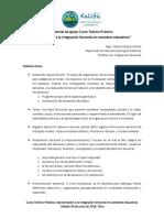Material de Apoyo Curso Teórico Práctico Aproximación a La is en Contextos Educativos Sábado 30 de Junio