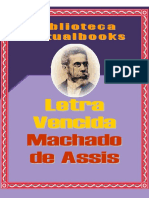 Letra Vencida - Machado de Assis (VB 00122)
