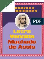 Letra Vencida - Machado de Assis (VB 00122)