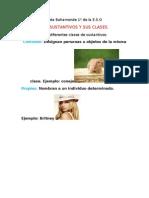 Los Sustantivos y Sus Clases