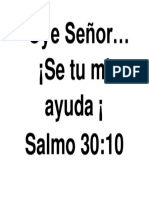 Oye Señor