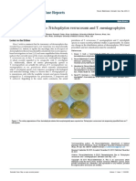 Dermatophytosis Due to Trichophyton Verrucosum and t Mentagrophytes DMCR 1000101
