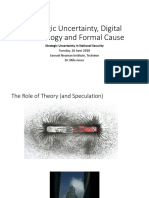 Strategic Uncertainty, Digital Technology and Formal Cause Milo Jones V1.2