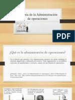 Historia de La Administración de Operaciones