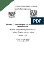 Robots en Los Procesos de Manufactura