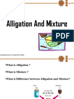 Alligation and Mixture