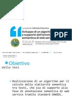 Sviluppo di un algoritmo di similarità a supporto dell'annotazione semantica di web services