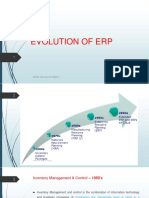 Evolution of Erp