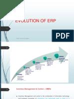 Evolution of Erp