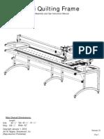 Juki TL 2200QVP Longarm Frame Setup