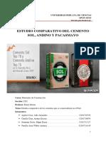 Estudio Comparativo Del Cemento Sol y El Cemento Andino Final
