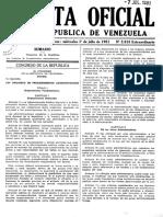Gaceta Oficial Ley Orgánica de Procedimientos Administrativos (1981)