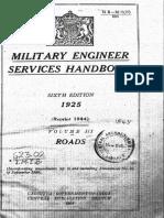 Military Engineer Services Handbook 1944 Reprint