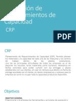 Planeacion de requerimiento de capacidad  CRP