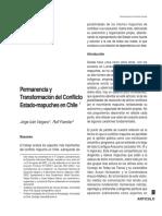 Vergara, J. I., & Foerster, R. (2002). Permanencia y transformación del conflicto Estado-mapuches en Chile. Revista Austral de Ciencias Sociales, (6)..pdf