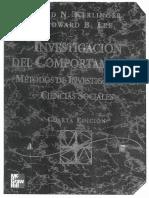 Problemas e hipótesis - Fred Kerlinger y Howard Lee (2002)