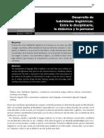 Desarrollo de Habilidades Lingüisticas (Entre Lo Disciplinario, Lo Didáctico y Lo Personal)
