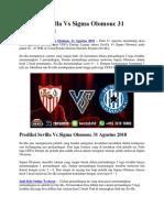 Prediksi Sevilla vs Sigma Olomouc 31 Agustus 2018