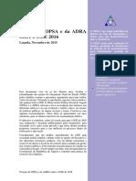 Posição Do OPSA e Da ADRA Sobre o OGE 2016