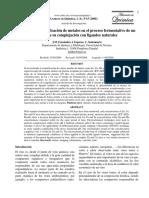 Resumen de Estudios de cuantificación de metales en el proceso fermentativo de un vino y de su complejación con ligandos naturales.