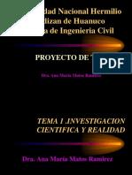 Tema 1 La Investigacion y La Realidad