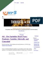 Fire Sprinkler Head Types_ Pendents, Uprights, Sidewalls, And Concealed