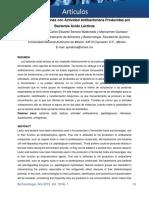Detección de Proteínas con Actividad Antibacteriana Producidas por Bacterias Ácido Lácticas