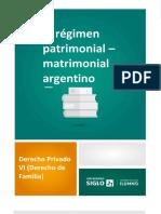 El Régimen Patrimonial Matrimonial Argentino