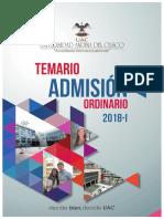 Admision Temario Uac 2018 1