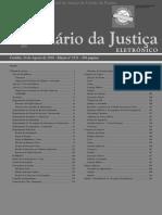 Diário Da Justiça Eletrônico - Data Da Veiculação - 24-08-2018