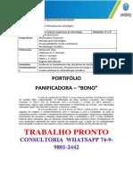 """Portfólio Planejamento Estratégico Panificadoras """"Bono"""""""