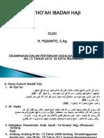 Materi Bimbingan Ibadah Haji Th. 2016 h. Pujianto,s.ag