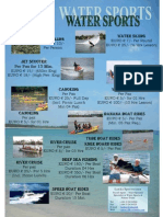 Water Sports Price List