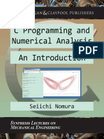 C Programming and Numerical Analysis