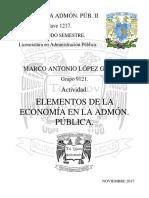 Un1.Tem1.Act1.Marco Lopez Elementos de La Economía en La Administración Pública ADMINISTRACION PUBLICA YYYYY
